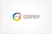 PSD Logo: Colorful Hexagon Logo