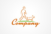 Dog Walking Logo