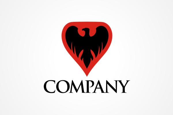 free logo: eagle shield logo