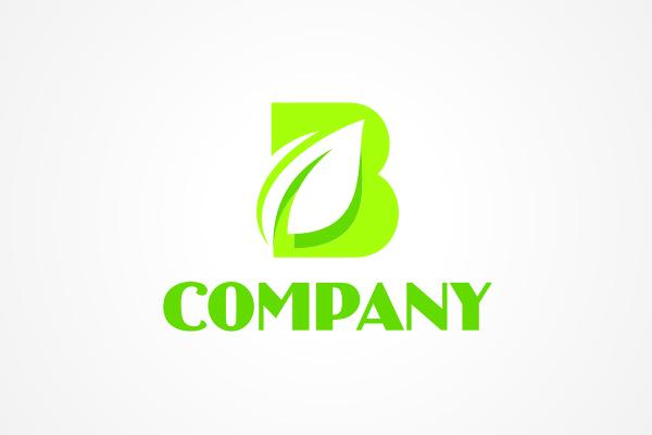 free logo leafy letter b logo