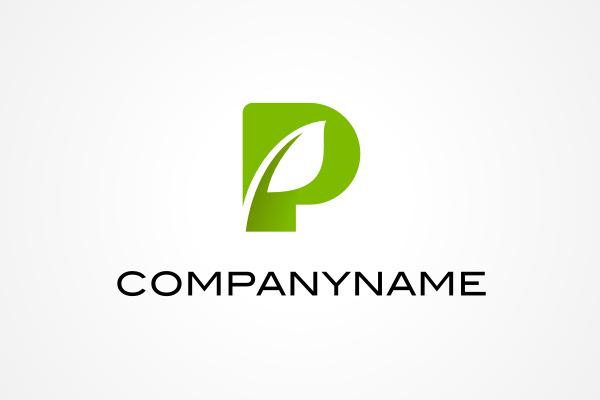free logo: letter p plant logo