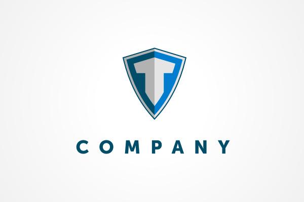 Free Logo: Letter T Shield Logo