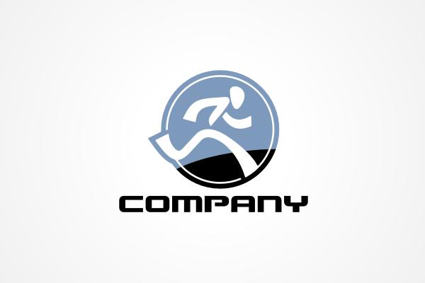 free logo running man logo