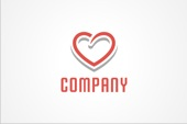 PSD Logo: Swirly Heart Logo