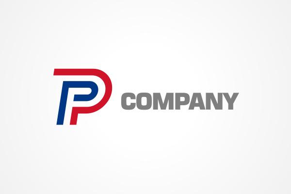 Free Logo: Two-Tone P ...P Logo
